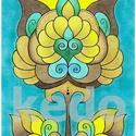 Tulipán , Képzőművészet, Dekoráció, Kép, Grafika, A/4-es kartonra készült, színes ceruzával színezett, saját tervezésű tulipán.  30*40 cm-es fehér műa..., Meska