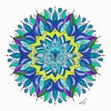 Mandalás falikép, Dekoráció, Magyar motívumokkal, Kép, 40 x 40 cm-es, fehér művész kartonra színes ceruzával készült saját tervezésű tulipán motívum 40*40 ..., Meska