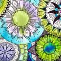 Mandalák nyomat A/4-es, Dekoráció, Magyar motívumokkal, Kép, A kép művészpapírra készült nyomat, saját készítésű, eredetileg akvarell festékkel és alkoholos filc..., Meska