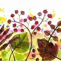 Őszi részletek - nyomat A/4-es, Dekoráció, Magyar motívumokkal, Kép, A kép művészpapírra készült nyomat, saját készítésű, eredetileg akvarell festékkel és alkoholos filc..., Meska