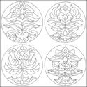 Körbezárt Lendület- nyomtatható tulipán mandalás sablon füzet, Dekoráció, Kép, Saját tervezésű tulipán mandaláimat kínálom szeretettel színezéshez, selyem-, üveg- és falfestéshez,..., Meska