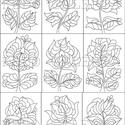 Táncoló tulipánok- nyomtatható tulipános sablon füzet, Dekoráció, Kép, A megszokott szimmetrikus tulipánjaimtól eltérő stílusban megrajzolt, saját tervezésű virágos kertem..., Meska