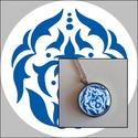 Nonfiguratív motívumos nyaklánc, Ékszer, Nyaklánc, Saját tervezésű és készítésű nonfiguratív motívummal díszített nyaklánc. A 25 mm-es üv..., Meska