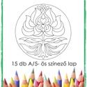 Körbezárt Lendület - tulipánmandalák, Saját tervezésű tulipán mandaláimat kínálom...