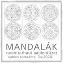 Mandalák 34/2020.- nyomtatható mandalás sablon füzet