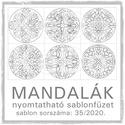 Mandalák 35/2020.- nyomtatható mandalás sablon füzet
