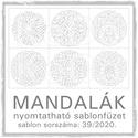 Mandalák 39/2020.- nyomtatható mandalás sablon füzet