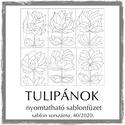 Tulipános sablonfüzet - 40/2020