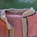 AKCIÓ! - meleg pulcsi, őszi színekben, Ruha, divat, cipő, Női ruha, Poncsó, Kötés, Meleg pulcsi, őszi színekben!   Ez a pulcsi kézzel kötött, egyedi színekből válogatott, csíkos, ősz..., Meska