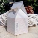 Esküvői köszönőajándék doboz