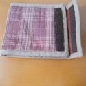 textil péntárca, Táska, Pénztárca, tok, tárca, Japán pamutvászonból készült bélelt tépőzáras pénztárca. Belül több rekeszes., Meska