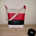 Textilbőr táska, Táska, Varrás, Ez a táska színeiben egy Tommy hilfiger érzést idéz  Amerikai jó minőségű textil bőrből készült, A ..., Meska
