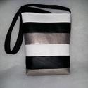 Textilbőr táska, Táska, Varrás, Minőségű textilbőrből készült jól harmonizáló  színeket kombináltam,  A táska méretei: magassága 35..., Meska
