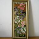Őszi színpompa. Tükörkép 1., Dekoráció, Otthon, lakberendezés, Kép, Falikép, Festészet, Egy 21 x 52 cm-es tükörre festettem a képet.  A festést üvegfestékekkel végeztem. A kertek mostani ..., Meska