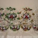 Teázás egész évben, szett, Konyhafelszerelés, Bögre, csésze, A teázót 4 fő részére készítettem el. A szett 4 db. 3 dl-es, öblös, füles üvegbögréből, és 4 db üveg..., Meska