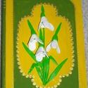 Füveskönyv  Könyvdoboz, Otthon, lakberendezés, Tárolóeszköz, Doboz, 20 x 14 x 4,5 cm méretű, könyv alakú, fa dobozt hóvirágokkal és tavaszi színekkel díszítettem. A dob..., Meska