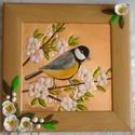 Virágos tavasz. Rézdombormű, Dekoráció, Otthon, lakberendezés, Kép, Falikép, 22 x 22 cm-es, natúr színű képkeretbe rézdombormű készült a virágos tavaszról. A képen virágzó gyümö..., Meska