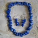 Adria ékszer szett, Ékszer, Nyaklánc, Fülbevaló, Az ékszer szett egy 42 cm hosszú, gumis damilra fűzött nyakláncból, és egy pár fülbevalóból áll. A n..., Meska