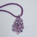 Purple dream, Ékszer, Nyaklánc, Különleges alkalmakra ajánlom ezt a nyakláncot. Felhasznált anyagok: sujtás zsinór, rivoli, t..., Meska