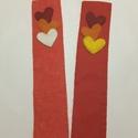Valentín könyvjelző pár, Naptár, képeslap, album, Szerelmeseknek, Könyvjelző, Varrás, Kézzel varrt termék. Szerelmespároknak kitűnő ajándék. Felhasznált alapanyagok: filc, cérna. Mérete..., Meska