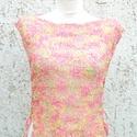 Ragyogó nyár, Ruha, divat, cipő, Női ruha, Felsőrész, póló, Blúz, Kötés, Igazi nyári darab. Rózsaszín-tarka laza kötésű szépség. Könnyű, szellős. Pont nyárra való. Oldalát ..., Meska