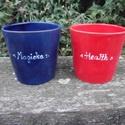 Mágikus bögre szett két személyre ;), Konyhafelszerelés, Bögre, csésze, Kerámia, Varázsitalos bögre szett. :) Ha a pirosból iszol, azonnal helyreállítja az életerődet, ha a kékből,..., Meska