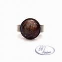Aventurin mázas kerámia gyűrű, Ékszer, óra, Gyűrű, Aventurin mázas kerámia gyűrű. Kerámiadíszt kézzel formáztam és fehér, ill. egy igazán különleges má..., Meska