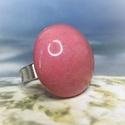 Rózsaszín álom - kerámia gyűrű, Gyönyörűséges korall rózsaszín mázas kerám...