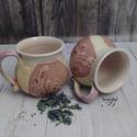 bögrepár, Konyhafelszerelés, Otthon, lakberendezés, Bögre, csésze, Páros bögre teához, hosszú kávéhoz, de a gyümölcslevest is kikanalazhatod belőle. Kb. 4-4,5 dl űrtar..., Meska