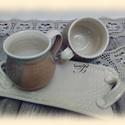 kávésok párban, Konyhafelszerelés, Bögre, csésze, Tálca, Reggeli kávék ágyban.... tálcán, akár ezzel a páros bögrével capuccinóval, hosszú kávév..., Meska