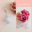 Kék harangvirág, Ékszer, Fülbevaló,  A kék kis akril virágokat a színtelen üveggyöngyök teszik egyszerűen különkegessé. A telj..., Meska