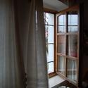 Len függöny (száda), Otthon, lakberendezés, Lakástextil, Függöny, Szövés, Varrás, Vékony lenvászon fényáteresztő függöny (ún. száda).  Parasztszövőszéken, hagyományos technikával mi..., Meska