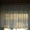 Vitrázs függöny, Otthon, lakberendezés, Lakástextil, Függöny, Szövés, Varrás, Vékony lenvászon fényáteresztő vitrázs függöny  Parasztszövőszéken, hagyományos technikával minőség..., Meska