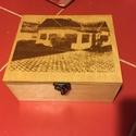Gravírozott doboz, Dekoráció, Esküvő, Férfiaknak, Otthon, lakberendezés, Rétegelt lemezből készült a doboz,majd a teteje gravírozva lett.Bármilyen minta,szöveg,vagy j..., Meska