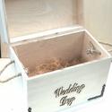 Nászajándék tároló láda, Esküvő, Esküvői dekoráció, Nászajándék tároló láda ,mely egyedi igények szerint készül.Akár névreszólóan,dátummal gravírozva,fe..., Meska