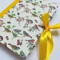 Kézműves napló; Kismadarak,  Kézzel készítette egyedi színvilágú napló....