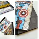 Marvel Szuperhősök -Kölyöknapló, A napló kézi kötéssel készült, papír borít...