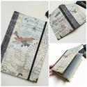 Bon Voyage! - Kézi kötésű útinapló, A napló kézi kötéssel készült, papír borít...