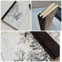 Vintage virágos napló, A napló kézi kötéssel készült, vintage hangu...