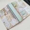 Vintage hangulatú napló, csontszínű lapokkal., A napló kézi kötéssel készült, papír borít...