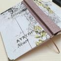 No.13- egyedi napló, A napló kézi kötéssel készült, papír borít...