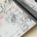 Vintage Rose- egyedi napló, A napló kézi kötésű, egyedi darab. Egy  péld...