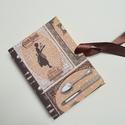Vintage Cookbook- egyedi napló, A napló kézi kötéssel készült, papír borít...
