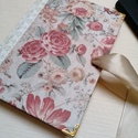 Barokk Rózsa- egyedi napló, A napló kézi kötésssel készült, egyedi péld...