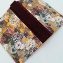 Barokk Rózsás napló arany részletekkel- egyedi napló, A napló kézi kötésssel készült, egyedi péld...