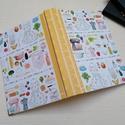 Főzőskönyv, A napló kézi kötéssel készült, papír borít...