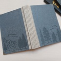Forest- férfi napló, A napló kézi kötéssel készült bőrhatású p...