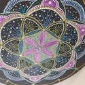 Lila életvirága, Művészet, Festmény, Akril, Festészet, Életvirága a teremtés szimbóluma, virágra hasonlít, pozitív energiát áraszt, minden élőre és tárgyr..., Meska