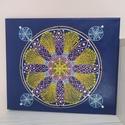 Angyalszárnyak mandala, Művészet, Festmény, Akril, Festészet, Az Angyalszárnyak mandala festővászonra készült, pontozással festett 30x25cm es kép. Színvilágában ..., Meska