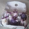 Levendulás tojások, Dekoráció, Húsvéti díszek, Gyönyörű levendulás dekoráció ,amely akár a te tojásfádat díszíti, akár ajándékba adod..., Meska